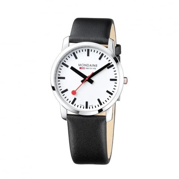 Simply Elegant (White Dial / Black Strap / 41mm)