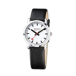 Simply Elegant (White Dial / Black Strap / 36mm)