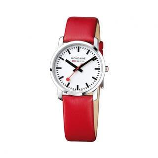 Women's Simply Elegant (White Dial / Red Strap / 36mm)