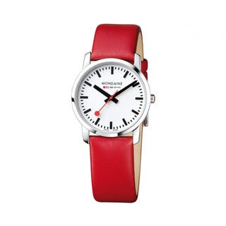 SECOND - Women's Simply Elegant (White Dial / Red Strap / 36mm)
