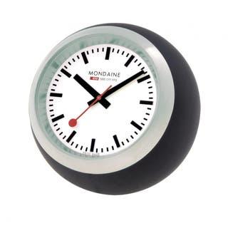 Desk Clock Globe - Black