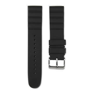 Black Rubber Strap with Buckle for I.N.O.X