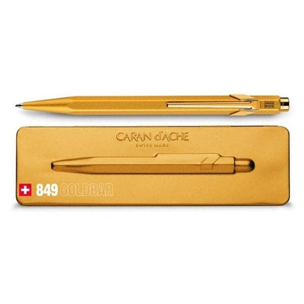Gold Bar Slim Ballpoint Pen in Metal Box