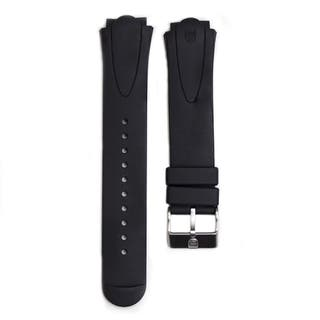 Womens 22mm Lug Black Rubber Watch Strap for Sentry Series