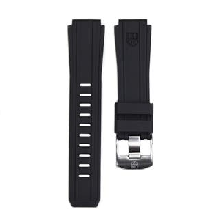 Mens 22mm Lug Black Rubber Watch Strap for Sentry Series