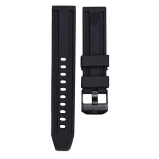 23mm Lug Black Rubber Strap for 4200 Anu Series with Black Buckle