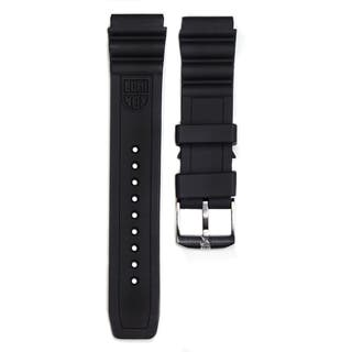 Mens 22mm Lug Black Rubber Watch Strap for Navy Seal Series
