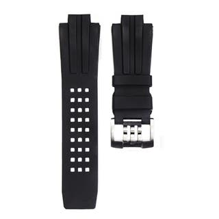 Men's 22mm Lug Black Rubber Watch Strap for Deep Diver Series
