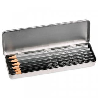Set of 6 Graphite Line Pencils (In Metal Presentation Box)