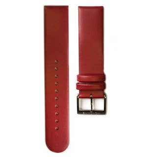 Red Leather 20mm Strap (Fits 36mm Face / 20mm Lug)