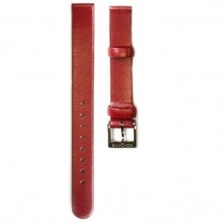 Red Leather 12mm Strap (Fits 26mm Face / 12mm Lug)