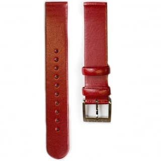 Red Leather 16mm Strap (Fits 30mm Face / 16mm Lug)