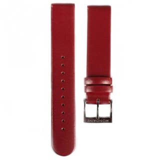 Red Leather 18mm Strap (Fits 35mm Face / 18mm Lug)