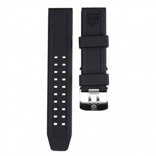 Men's 23mm Lug Black Rubber Watch Strap for Navy Seal Series