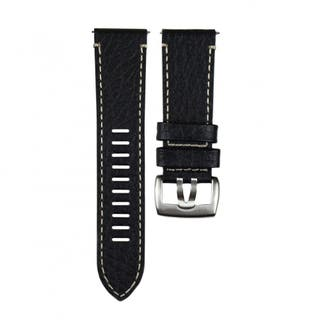 26mm Lug Black Leather Valjoux Watch Strap for 1861 Series