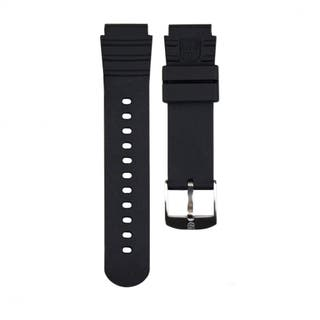 20mm Black PU Watch Strap for 0300 Series
