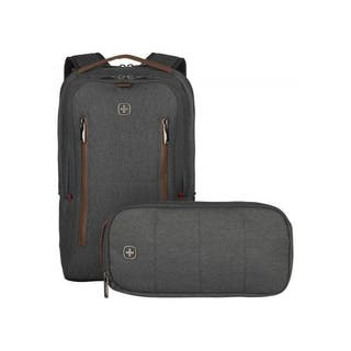 """City Upgrade 16"""" Laptop Backpack with Day Bag - Grey"""