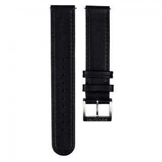 Black Leather 12mm Strap (Fits 26mm Face / 12mm Lug)