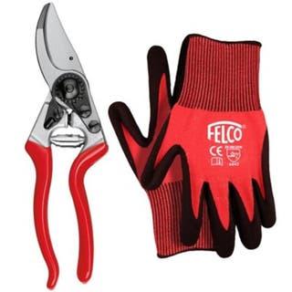 6 Secateur & Medium Gloves Gift Set
