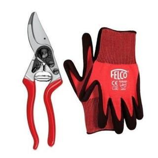 8 Secateur & XL Gloves Gift Set