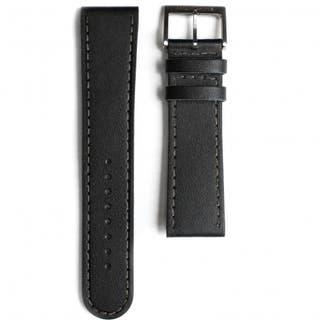 Black Leather 22mm Strap (Fits 41mm Face / 22mm Lug)