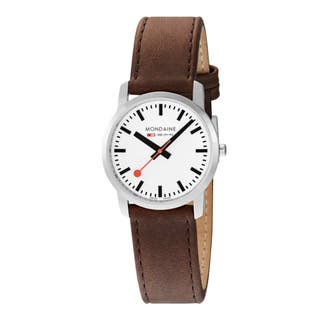 Unisex Simply Elegant Brown Leather Watch 36mm