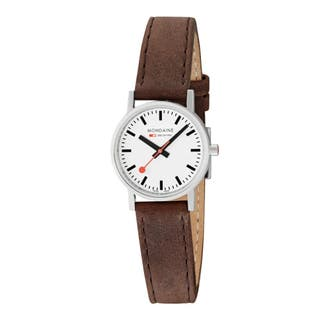Classic Brown Leather Watch 30mm