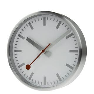 Pure Edition Wall Clock (Brushed Silver) 25cm